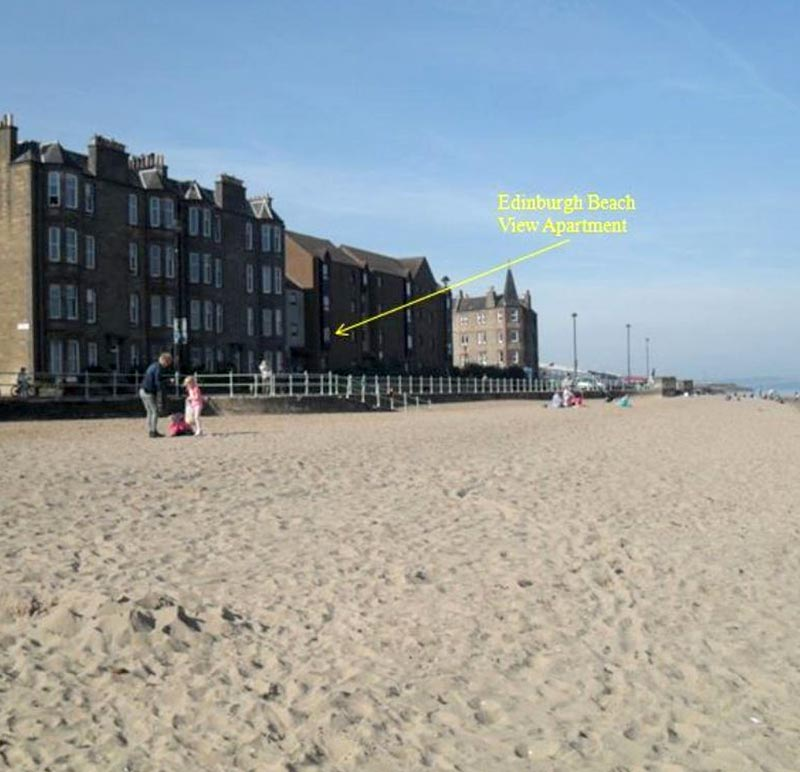 A view of the beach front apartment near Edinburgh