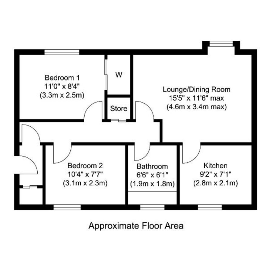 Beach View Aartment Floor Plan